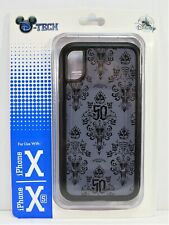 Disney 50th Anniversary Haunted Mansion Wall Paper Apple Iphone 10 X/XS Case NEW