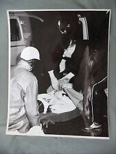 Vintage B&W Victoria B.C. Newspaper Photo Accident Woman on Stretcher Bastion St