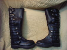 Black Leather Knee High Renaissance Boots, size 7 mens and size 9 womans