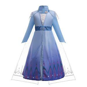 ELSA & ANNA® Girls Fancy Dress Snow Queen Princess Dress Halloween Costume E315