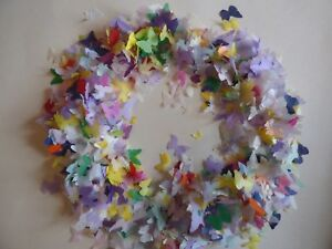 Bio Rainbow Mixed Butterfly Wedding Party Tissue Eco/Fill up to 30 Cones