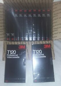 3M Professional VHS Tape Lot T-120 (6 Hour) VCR New Blank lot of 12
