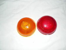 Vintage glass lens 1 Dietz, 1 American automatic red & amber hot, rat rod, auto