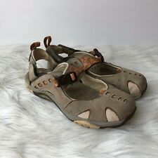 Merrell Womens Size 6M Brown Wrap Strappy Outdoor Walking Sandals Closed Toe