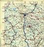 Hannover Hildesheim Goslar Peine Celle 1937 B.-V. Aral-Teilkarte Reichsautobahn