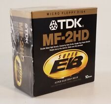 TDK MF-2HD Micro Floppy Disks Storage Double Sided Super EB 1 bx of 10