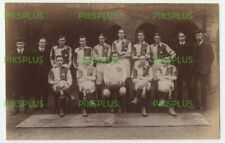 OLD POSTCARD ST MARKS COLLEGE FOOTBALL TEAM CHELSEA LONDON REAL PHOTO 1911
