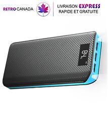 Chargeur, Batterie externe 20000mAh portable USB avec écran LCD pour smartphones