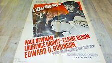 L' OUTRAGE  !  paul newman   affiche cinema western