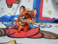 Authentic Littlest Pet Shop # 807 Orange Red Brown Tan Fox Green Starburst Eyes