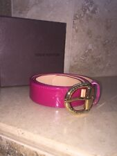 Louis Vuitton Pink Patent Leather Belt Rare