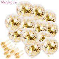 20 pcs 12 inch Gold Confetti Latex Balloons Wedding Birthday Party Decoration