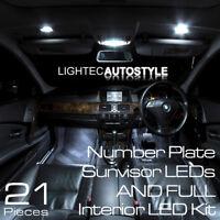 BMW 5 SERIES E60 E61 21/pc PURE WHITE CANBUS LED INTERIOR UPGRADE LIGHT KIT SET