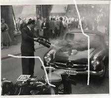 18x16c Foto 1956 Unfall Löschen Mercedes 190 SL wie Arnold Odermatt photo
