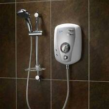 Triton T100xr 9.5kW Electric Shower White & Brushed Chrome 5 Spray SP1009XR
