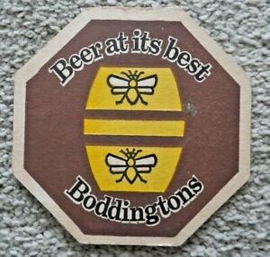 VINTAGE BODDINGTONS BEER MAT 1970's PERFECT FOR HOME PUB / BAR / MAN CAVE   J987
