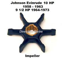 Johnson Evinrude Water Pump Impeller 9.5 HP 1964-1973, 10 HP 1958-1963