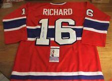 "HENRI RICHARD SIGNED MONTREAL CANADIENS HOCKEY JERSEY ""11 CUPS"" - JSA"