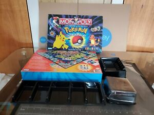 1999 Pokemon Monopoly Replacement  Box and Plastic holders