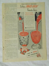 1946 Magazine Advertisement Page For Libby's Twice Rich Tomato Juice Vintage Ad