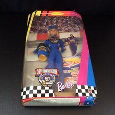 "Barbie 50th Anniversary Nascar Hotwheels 1998 12"" Doll New In Box Mattel"
