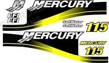 Giallo Mercury 115 fuoribordo 4 tempi motore Adesivi Decalcomania KIT MOTORE