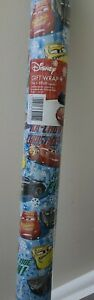 2 x 3m Disney Cars  Wrapping Paper 3m Christmas....WRAPPING  PAPER roll