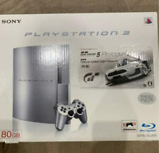 PS3 Satin Silver 80GB Console CECHL00 Working W/BOX SONY USED From Japan FedEx