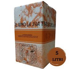 1 bag in box da 5 litri vino bianco fermo profumato base Chardonnay 12 gradi
