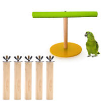 Bird Toys Parrot Toys Parrot Pet Wood Hanging Stand Rack Toy Branch Perches