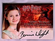 Artbox - Harry Potter And the Goblet of Fire Autograph Card.  Ginny Weasley!!!!!