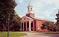 Crawfordsville Indiana~Wabash College~Campus Chapel~1950s Postcard