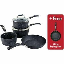 Scoville Neverstick 4 Plus 1 Piece Cookware Set milk pan,2 Saucepans -Frying pan