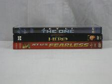 Jet Li 3 movie Dvd lot The One, Hero & Fearless Vg