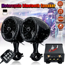 Pair 600W Motorcycle bluetooth Stereo Speaker Audio Music MP3 System AUX Radio