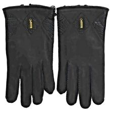 NWT ZILLI  black Leather Lined agneau Mens Gloves 9.5 L  zgu6