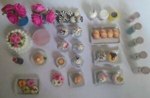Dollhouse Miniatures Lot Over 50 Pieces