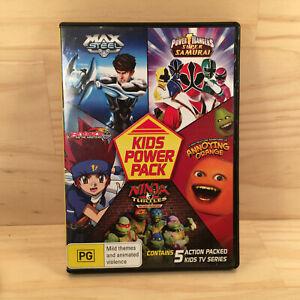 Kids Power Pack MAX STEEL, POWER RANGERS, BEYBLADE Kid's DVD Movie Series (R4)