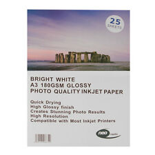 A3 Neo Media 180 gsm Gloss Inkjet Photo Paper 25 Sheets Glossy