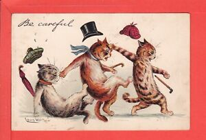 LOUIS WAIN be careful … cats bumping each other! p/u 1904 pub Raphael Tuck 1004
