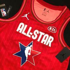 New Jordan NBA All Star Dallas Mavericks Luka Doncic Red Swingman Jersey RARE 2X