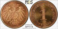 GERMAN EMPIRE 1 PFENNIG 1898-F (PCGS PR64RD) FULLY RED PROOF *PCGS TOP POP 1/0*