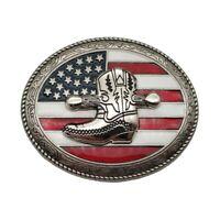 American America USA Flag Belt Buckle Western Cowboy Cowgirl Boots Buckles