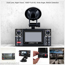 180° Rotation Dual Lens HD Full 1080P Car F30 DVR Camera Recorder Tachograph Kit