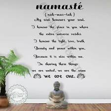Namaste Pared Adhesivo somos uno Yoga cita Yoga Studio de Arte para Decoración de pared Calcomanías