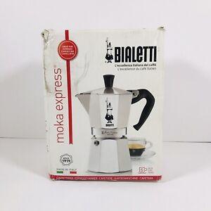 Bialetti Moka Express 6 Cup Stovetop Espresso Maker Espresso Latte Italy - New