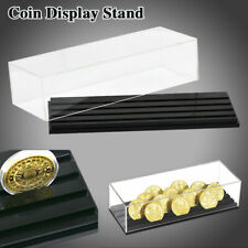 Display Stand Commemorative Coin 4 Rows Base Holder Rack 40mm  Box Case Acrylic