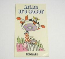 ADESIVO anni '80 / Old Sticker GOLDRAKE di ATLAS UFO ROBOT (cm 6 x 10) Edierre b