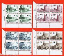 SG. 1410 - 1413. 1988 Castles Set of 4 blocks of 4. UNMOUNTED MINT.