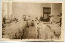 CP Militaria - Guerre 14-18 - Institut chirurgical de Jumet - Blessés français